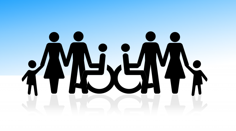inclusion, group, wheelchair